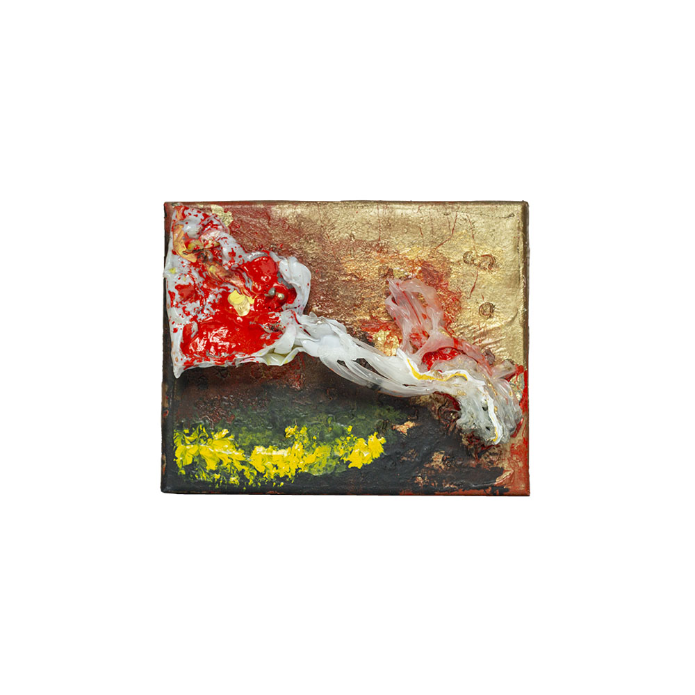red abstract art on canvas