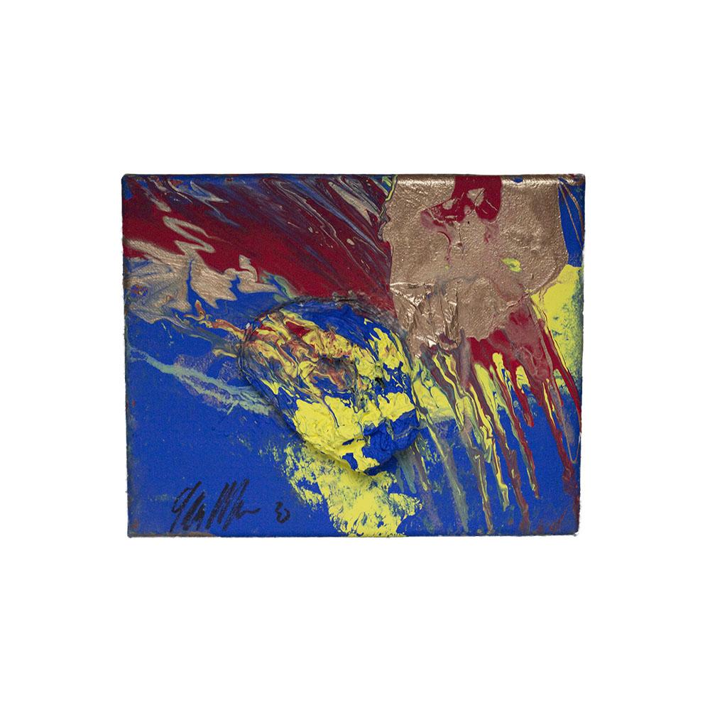 blue splatter art