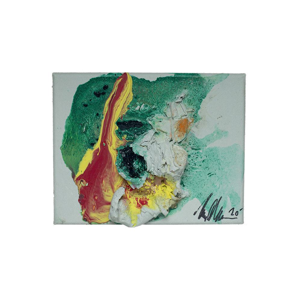 green fire abstract art